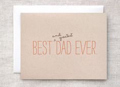 Birthday Card for Dad Father's Day Funny  Best & by HappyDappyBits, $4.50
