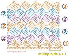 Lindos y variados puntos para tejer a crochet!!