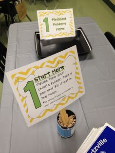 Meet the Teacher Night -  Parents can follow the signs and do everything you need them to do before the first day of school.  Ends with a little gift for the student and the parent to welcome them into the class.