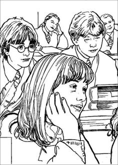 harry potter coloring page - Harry Potter Coloring Pages Ginny