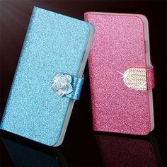 "Hot Diamond Flash Capa Cover For Samsung Galaxy A5 2015 A500 A500F 5.0"" Case Flip PU Leather Book Protector Coque Fundas"