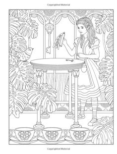 Amazon.com: Creative Haven Alice in Wonderland Designs Coloring Book (Adult Coloring) (9780486813745): Marty Noble: Books