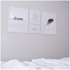 Bedroom decor, Desenio posters Desenio Posters, Bedroom Posters, Bed Pillows, Bedroom Decor, Instagram, Home Decor, Home Decoration, House, Pillows