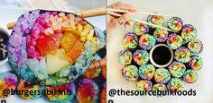 Instagram : Nouvelle tendance, les sushis arc-en-ciel !