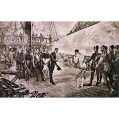 Admiral Of The Spanish Armada Surrenders To Francis Drake Lucas Seymour Canvas Art - Seymour Lucas (18 x 24)