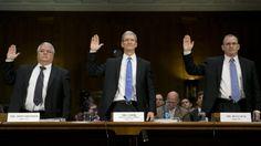 """""""Ich liebe Apple"""", sagt eine demokratische Senatorin, kurz vor Cooks Aussage. """"Ich habe sogar meinen Mann gezwungen, MacBooks als Laptops zu benutzen."""""""