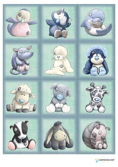 "Printable - high resolution "" My Blue Nose Friends "" to download from the page , please click on  Скачать с depositfiles.com"