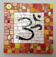 Mosaic OM - Mosaic tiles, crockery, beads, buttons, shells