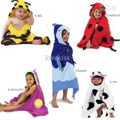 Baby Bathroom Towels Children Cartoon Animal Towels Robes Beach Cotton Towels Kids Cute Bath Towels
