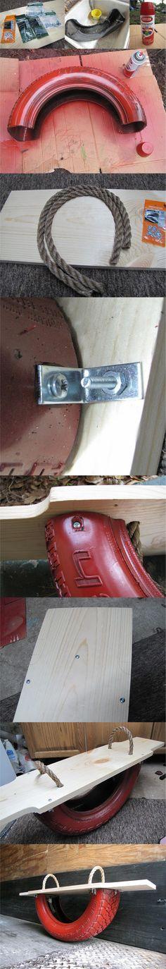balancin reciclar neumatico DIY muy ingenioso 2