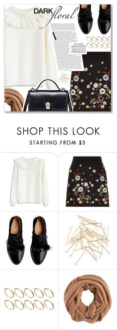 """""""Dark Florals"""" by myduza-and-koteczka ❤ liked on Polyvore featuring Chicwish, Monki, ASOS and J.Crew"""