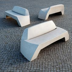 It's been a long time I integrate Escofet urban furniture in my images. Concrete Bench, Precast Concrete, Concrete Furniture, Concrete Art, Concrete Design, Urban Furniture, Street Furniture, Decorative Concrete, Furniture Stores