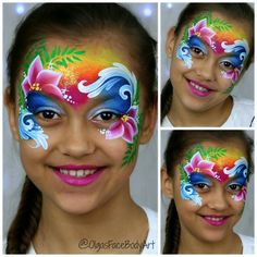 Simple face painting designs are not hard. Many people think that in order to have a great face painting creation, they have to use complex designs, rather then simple face painting designs. Face Painting Tutorials, Face Painting Designs, Paint Designs, Cake Designs, Face Painting Flowers, Butterfly Face Paint, Tole Painting, Princess Face Painting, Adult Face Painting