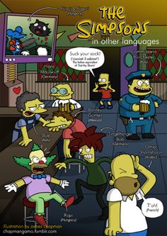 The Simpsons around the world.