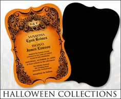SHOP THE ART & DESIGN OF JULIE ALVAREZ                    Halloween Wedding Invites        Halloween Wedding Postage        Hallowee...