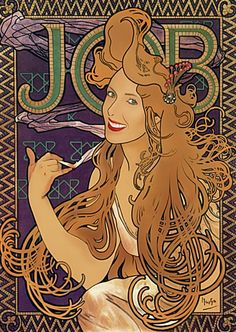 Job Cigarettes poster #2 by Alphonse Mucha