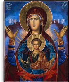 Our Lady of Theotokos icon Madonna POSTER print Virgin Mary Russian Orthodox Byzantine Christian Religious Catholic Holy Wall Art Decor for Home Room Chapel Oil Painting Gallery, Modern Oil Painting, Byzantine Icons, Byzantine Art, Religious Images, Religious Art, Faith Of Our Fathers, Russian Orthodox, Catholic Art
