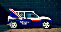 Rally Car for sale – 1986 MG Metro rally car Group B - Retro Race Cars Mg Cars, Race Cars, Fiat 126, Rally Raid, Classic Mini, Classic Cars, Amazing Cars, Awesome, Motor Car