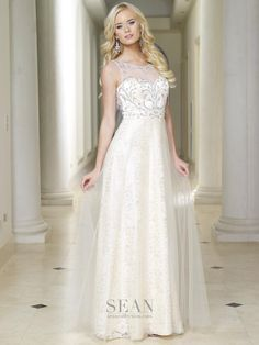 Sean Collection 50717 Champagne Prom Dress