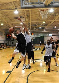 Royal Marines Basketball - British Royal Marines Competed with US Marines on a Sports Tour of the eastern United States.
