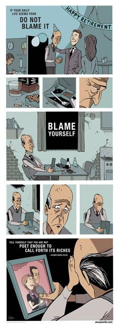 RAINER MARIA RILKE: Letter to a young poet, illustrated by Zenpencils. :(