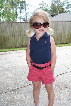 Cute toddler outfit khaki shorts with sleeveless polo