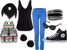 little to wannabee punk for me, so everything minus the bracelets.