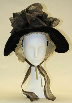 Bonnet (Poke Bonnet) Date ca. 1835