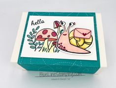 Snail Treat Box - Blue Line Stamping Stampin Pretty, Card Making Inspiration, Little Boxes, Paper Pumpkin, Pretty Cards, Ink Pads, Blue Line, My Stamp, Hostess Gifts