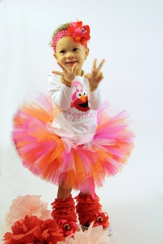 Complete Elmo Birthday Outfit by Tuturrific on Etsy, $50.00