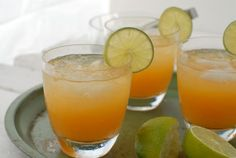 Ingredients:  ·         1 ½ ounce silver or Blanco tequila (I prefer organic and have loved Republic of late)  ·         ¾ ounce freshly squeezed lime juice  ·         ½ ounce agave syrup  ·         1-2 ounces of fresh Peach Puree*  ·         Lime slice (garnish)  ·         Ice  *To Make the Peach Puree:  Peel and pit one medium peach.  Place the peach in a blender and blend until pureed.