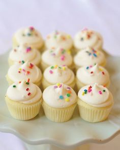 Muddy's Plain Jane Mini Cupcakes: available in pink or blue icing, or even customize your sprinkles!
