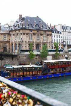 Seine River and the Love Locks Bridge, Paris, France