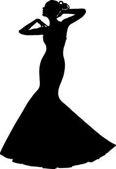 Силуэты женщин в платье