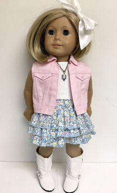 18 inch doll clothes fit American Girl Doll 6 piece outfit