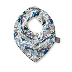 2c1e950e85a HOMEYNESS - Liberty of London dribble bib in tana lawn Queue for the Zoo D,