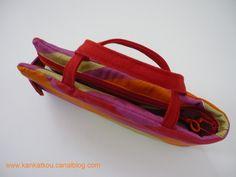 Les couturières s'équipent - KanKatKou Bag Patterns, Scissors, Clutch Bags, Sewing Projects, Basket