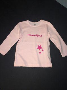 """Shirt mit Aufdruck """"Wunschkind"""" von Schnullidudi auf DaWanda.com"""