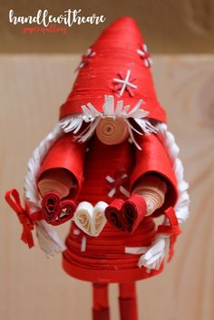 Christmas quilling gnome on Behance