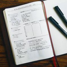 10 idées de page Weekly log pour votre bullet journal !