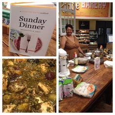 Did you stop by the table to meet local cookbook author Bridgette Lacy? She met us for a lesson on good southern cooking for a Sunday dinner- Fragrant Chicken with Olives and Apricots is a recipe you shouldn't miss!