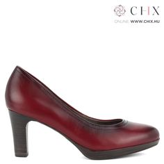 Bordó Tamaris magas sarkú cipő Magas sarkú bőr Tamaris cipő bordó antikolt  színben. Sarka 7 f2e7bd41e2