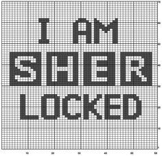 I am SHERlocked knit chart