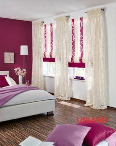 Unland Mira, Fensterideen, Vorhang, Gardinen und Sonnenschutz - curtains, contract fabrics, pleated blinds, roller blinds and more. Made in Germany