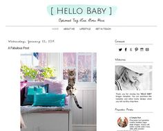 Premade Blogger Template  HELLO BABY   Graphic by LisasMenagerie, $35.00 Baby L, Mobile Responsive, Social Media Icons, Blogger Templates, My Favorite Part, New Tricks, Yoga, Graphic Design, Cabinet