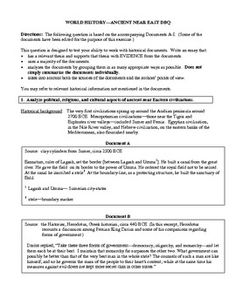 essay questions for ancient world history Welcome to mrs levine's world history page here you will find resources for both standard and honors levels of classes - including general and unit information.