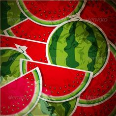 Watermelon Background  #GraphicRiver         Vector Illustration, Vector Pattern, includes swatch EPS10 (Contains transparent objects used for shadows drawing, glare and background. Background to give the gloss, opacity), raster version. Illustrations may at your option contain text.     Created: 28February13 GraphicsFilesIncluded: JPGImage #VectorEPS Layered: No MinimumAdobeCSVersion: CS Tags: abstract
