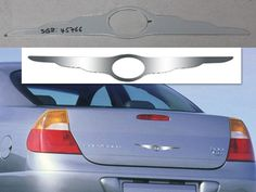 """CHRYSLER """"WING"""" LOGO (1 piece: stainless steel *with logo cutout*) SGR45766"""
