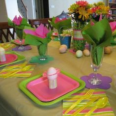 Light and Bright Easter Table