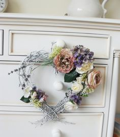 Boudoir floral heart wreath by Trisha Martin